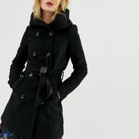 Vero Moda Hooded Wool Coat | ASOS