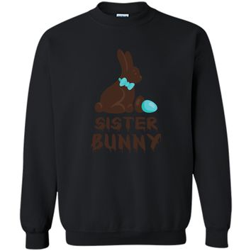 Chocolate Easter Sister Funny Bunny Family Couples T Shirt Printed Crewneck Pullover Sweatshirt 8 oz
