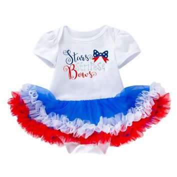 Letter Stars 4th Of July Headbands Set For Baby Girl