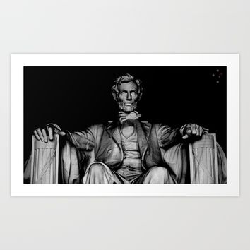 Lincoln Art Print by Derek Delacroix