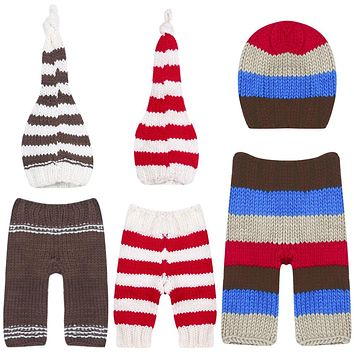 Baby Crochet Hat and Pant Knit Costume