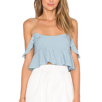 RACHEL ZOE Brynn Top in Dusty Blue