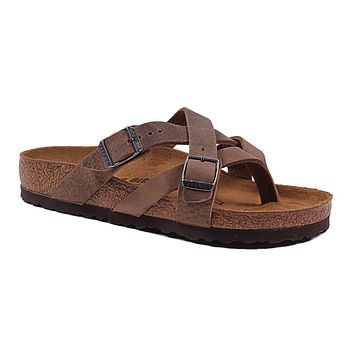 Women's Temara Camberra Sandal in Oiled Tobacco Brown Leather by Birkenstock