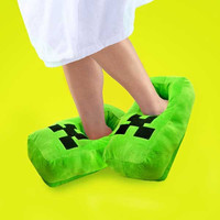 Pixel Block Plush Slippers