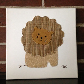 Lion #2 Fabric Wall Art