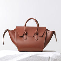 Small Tie Handbag in Natural Calfskin