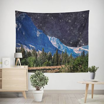 Mountains in Space Wall Tapestry - 4 Sizes