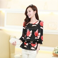 New Arrivals : Asian Printed Half Sleeve Top YRB0662