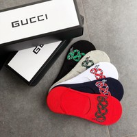 Gucci Fashion 5 pairs of set Sock Style #257