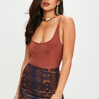 Missguided - Blue Velvet Snake Print Mini Skirt