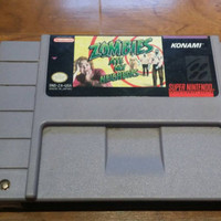 Zombies ate my neighbors super Nintendo console video game system