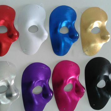 Mask right  Half Face Phantom Of The Night Opera Men Women Masks Masquerade Party Masked Ball  masks Halloween festive supplies