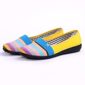New Women Flat Casual Canvas shoes size 75859