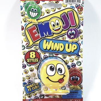 """EMOJI 3"""" Wind Up Toy Tongue Out Silly  Face Figure"""