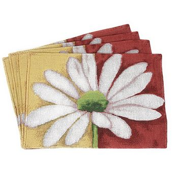 Tache 4 Piece Spring Decorative Loves Me Not Placemat Set