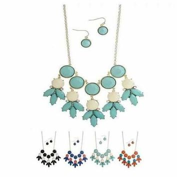 Bubble Drizzle - Necklace And Earrings Set
