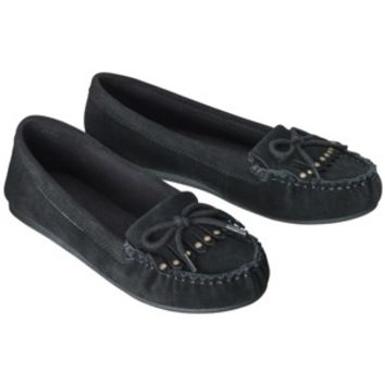 Women's Mossimo Supply Co. Lenia Genuine Suede Moccasin - Black