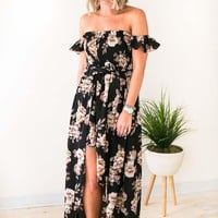 Flor-ever Asymmetric High Low Dress