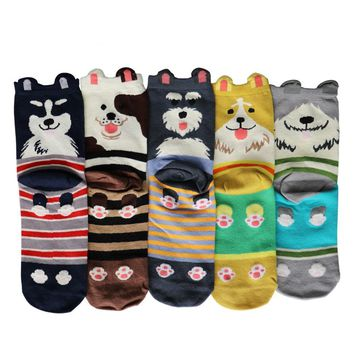Dogs Golden Retriever Schnauzer Husky Bulldog Socks Funny Crazy Cool Novelty Cute Fun Funky Colorful
