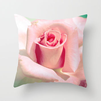 VINTAGE ROSE Throw Pillow by Oksana Ladyzhynska