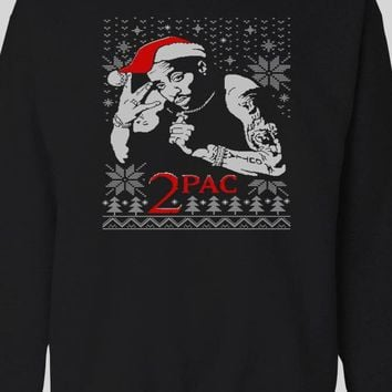 RAPPER 2PAC UGLY CHRISTMAS HOLIDAY SWEATER