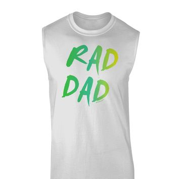 Rad Dad Design - 80s Neon Muscle Shirt
