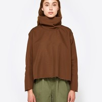 Ashley Rowe / Fitted Turtleneck in Brown