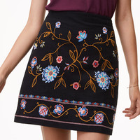 Petite Floral Embroidered Shift Skirt | LOFT