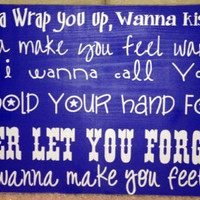 Hunter Hayes Make you feel wanted sign by bhonorable on Etsy