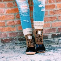Monogrammed Duck Boots, Fall Boots