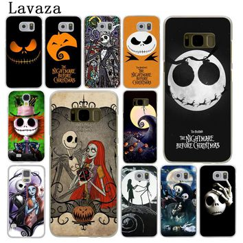 Lavaza The Nightmare Before Christmas Cartoon Hard Phone Case for Samsung Galaxy S6 S7 Edge S8 S9 Plus S3 S4 S5 Cover Shell