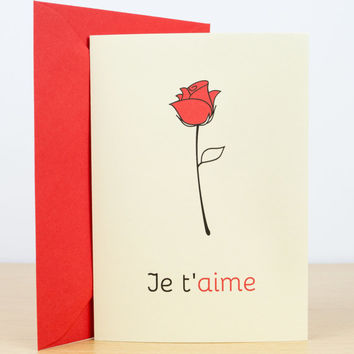 Best love you cards for him products on wanelo love card je taime valentines card love you card romantic m4hsunfo