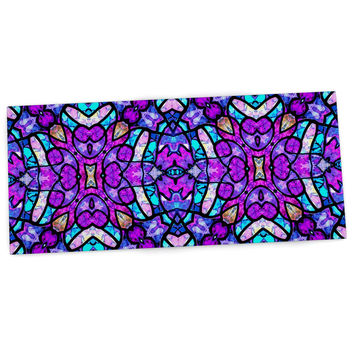 "Art Love Passion ""Kaleidoscope Dream Continued"" Purple Pink Desk Mat"