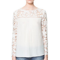 COMBINATION CROCHET BLOUSE - Shirts - Woman - ZARA United States