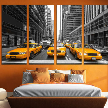 New York Canvas Print Multi Panel Wall Art / New York Skyline & Cityscape Large Canvas Print Living Room Wall Art / Manhattan Wall Art / NYC