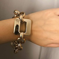 Geometric Detail Chain Bracelet 1pc
