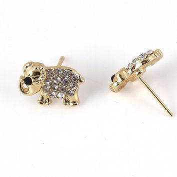 Elephant Studs - Gold or Silver