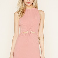 Knot-Front Mini Dress