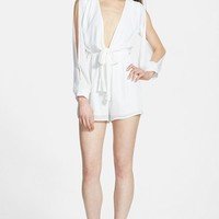 Women's Dirty Ballerina Slit Sleeve Romper
