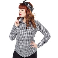 REBEL 8 GIRLS GINGHAM BUTTON UP SHIRT