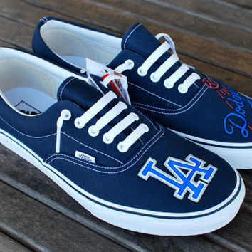 LA Dodgers Vans shoes by BStreetShoes on Etsy