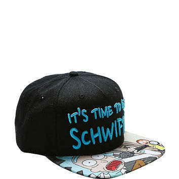 Rick And Morty It's Time To Get Schwifty Snapback Hat