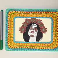 """Hand painted frame, 4''x6"""" Only one"""
