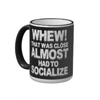 Coffee with Introverts Ringer Coffee Mug
