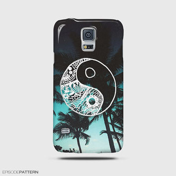 Samsung Galaxy S6 Case, Samsung Galaxy S5 Case, Galaxy Note 4 Case, Galaxy Mini S5 Hipster Tropical Yin Yang