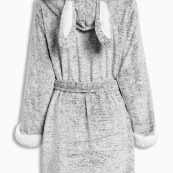 Buy Grey Bunny Sheepy Robe from the Next UK online shop