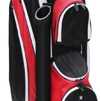 "RJ Sports 9"" Lightweight Golf Cart Bag - Black/Red DS-590"