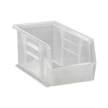 Quantum Plastic Storage Clear-View Ultra Hang and Stack Bin 10-7/8 x 5-1/2 x 5 - Pack of 12