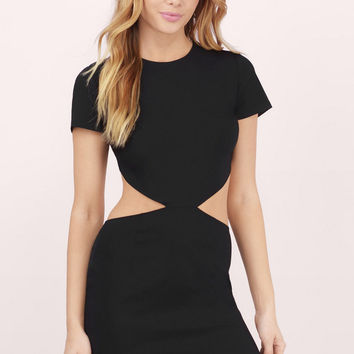 First Kiss Cut Out Bodycon Dress