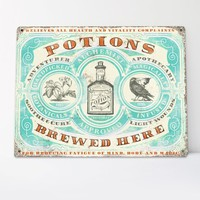 POTIONS - Apothecary Tin Sign